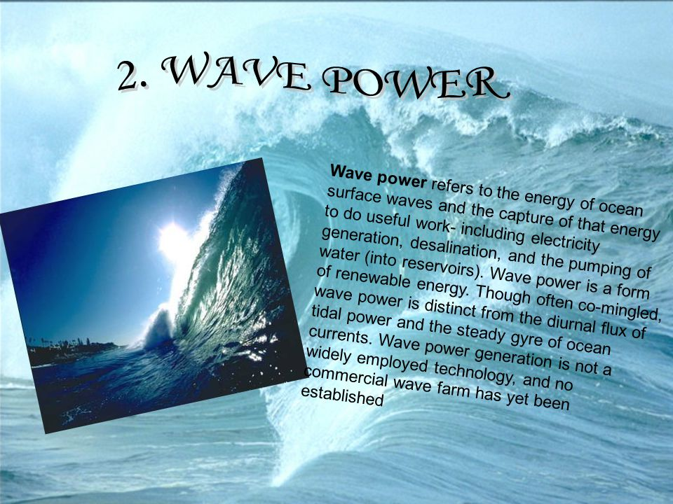 2. WAVE POWER