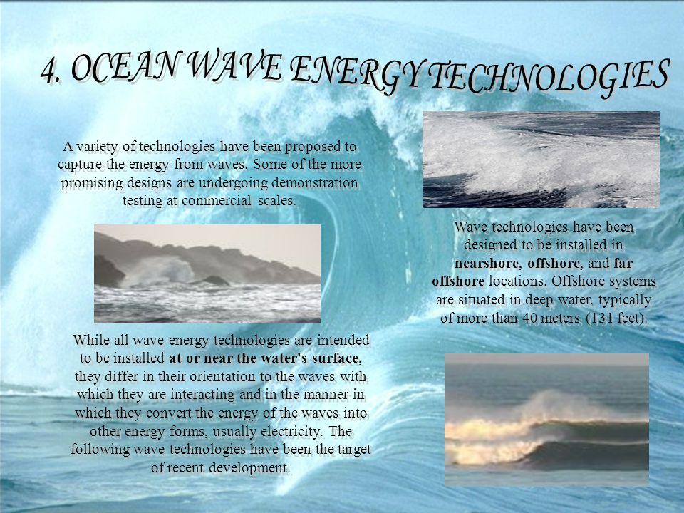 4. OCEAN WAVE ENERGY TECHNOLOGIES