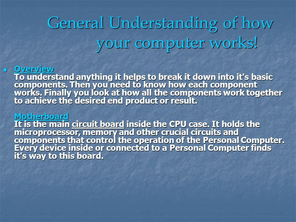 General Understanding of how your computer works!