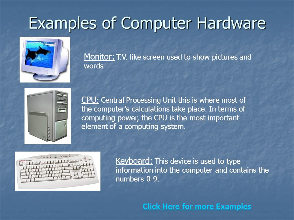 Examples of Computer Hardware