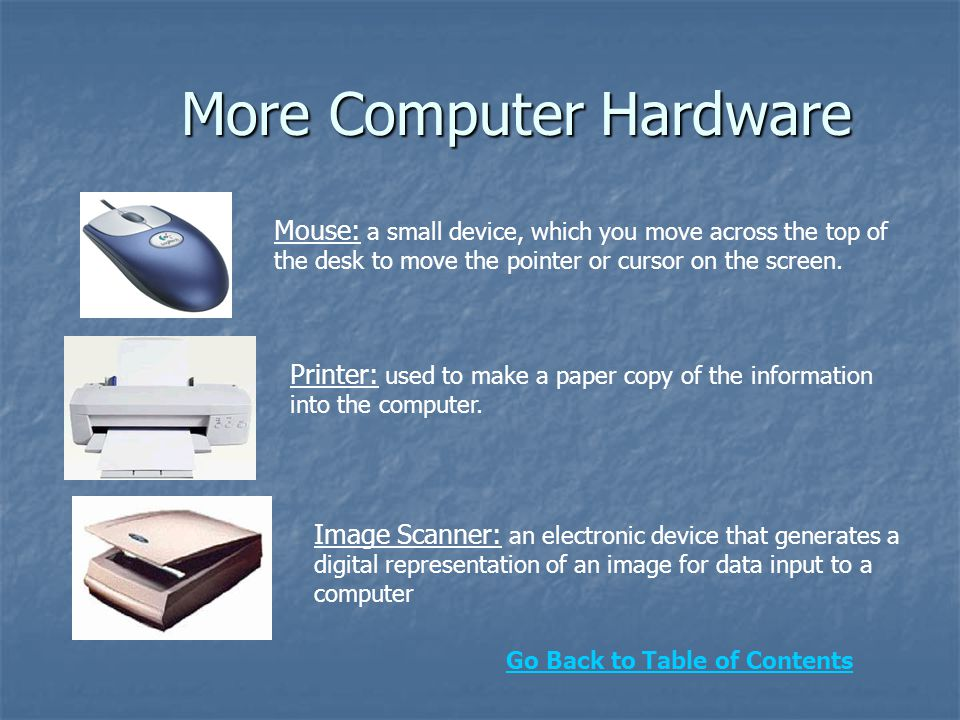 More Computer Hardware