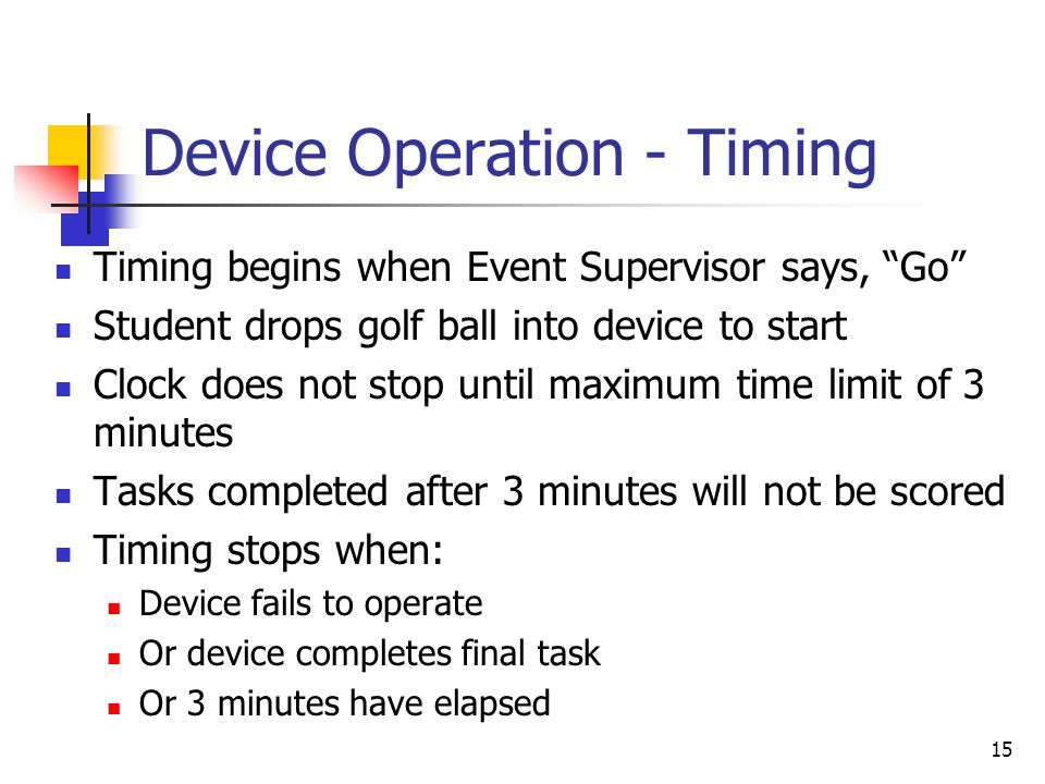 Device Operation - Timing
