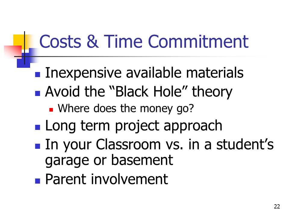 Costs & Time Commitment