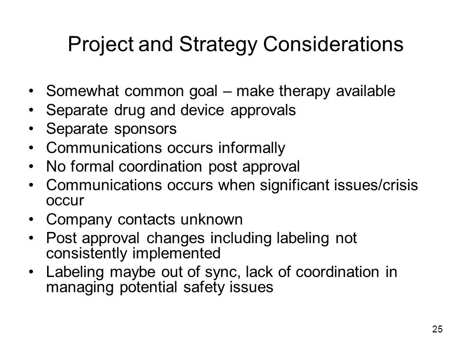Project and Strategy Considerations