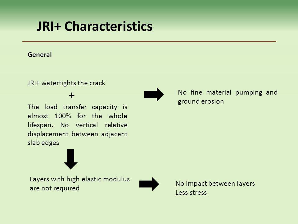 JRI+ Characteristics General JRI+ watertights the crack +