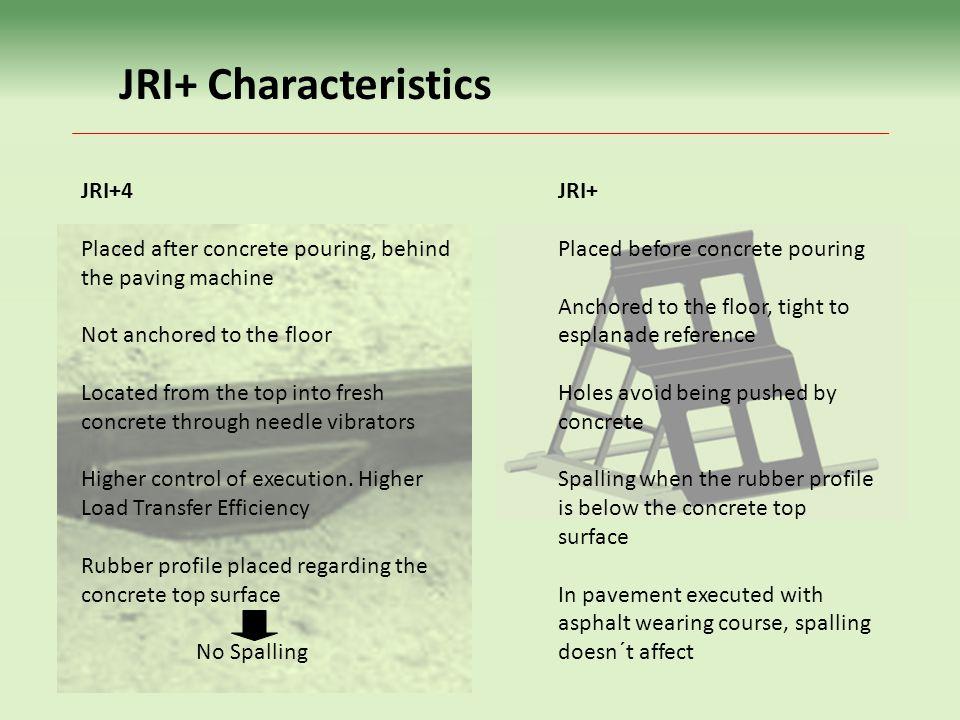 JRI+ Characteristics JRI+4