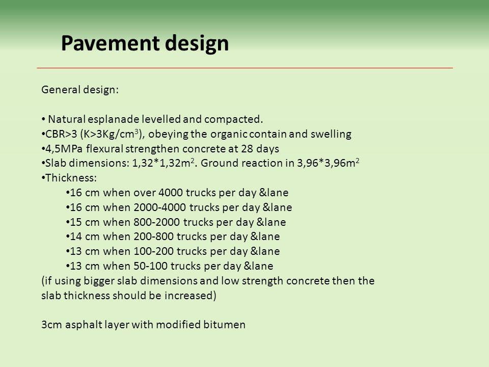 Pavement design General design: