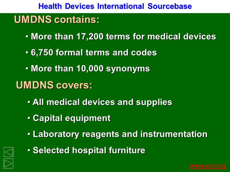 Health Devices International Sourcebase