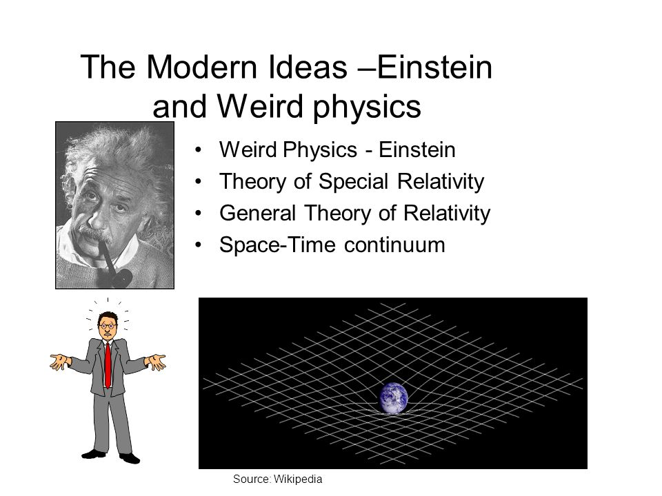 The Modern Ideas –Einstein and Weird physics
