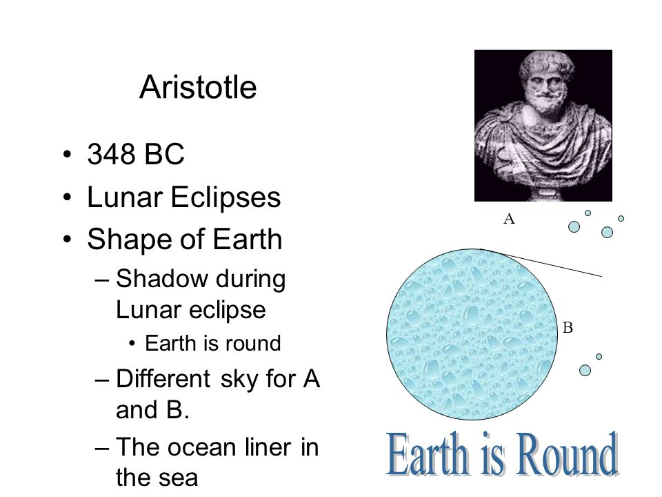 Aristotle Earth is Round 348 BC Lunar Eclipses Shape of Earth