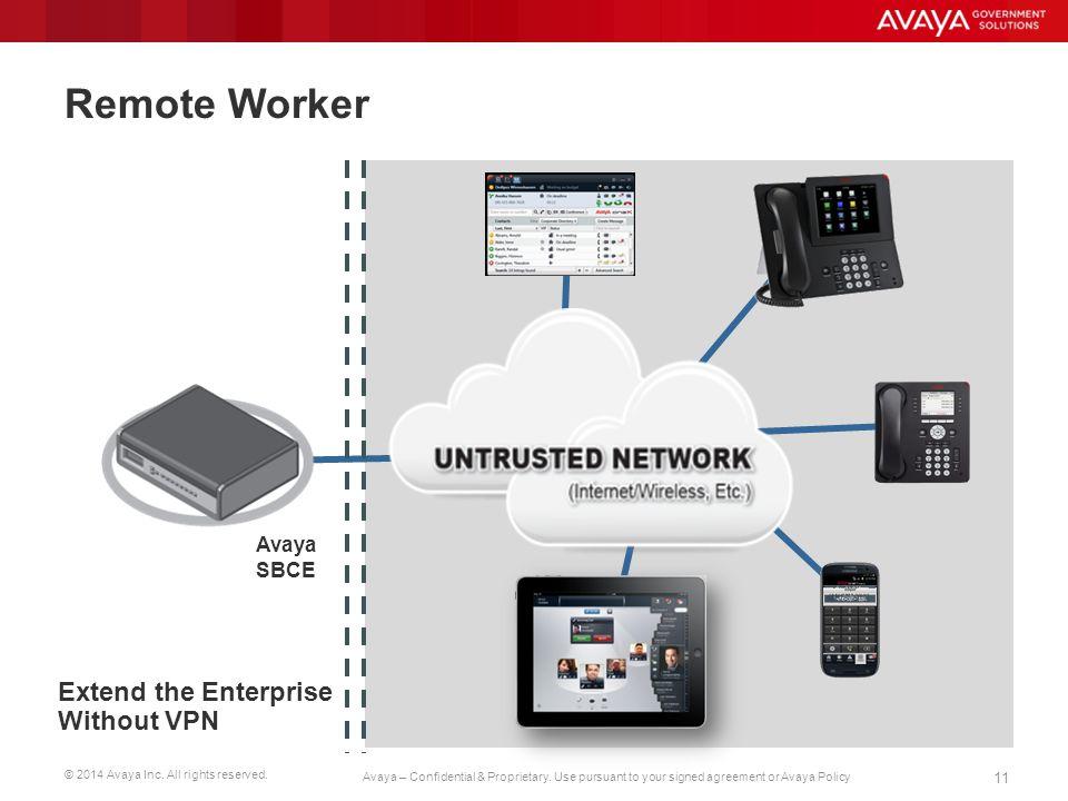 Remote Worker Avaya SBCE Extend the Enterprise Without VPN