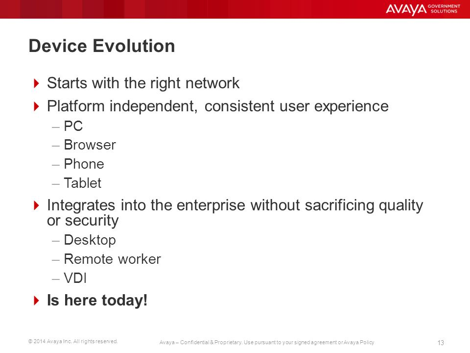 Device Evolution Starts with the right network