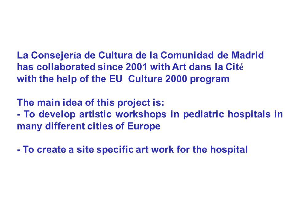 La Consejería de Cultura de la Comunidad de Madrid