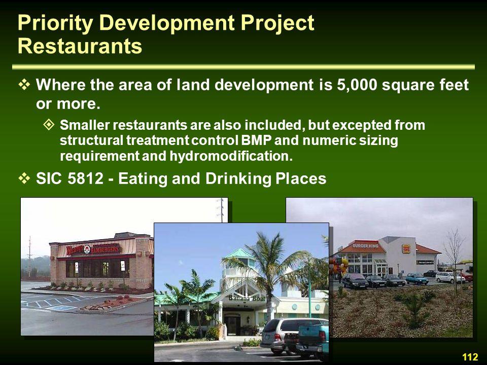 Priority Development Project Restaurants