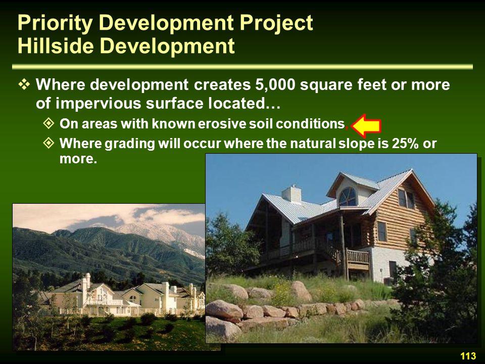 Priority Development Project Hillside Development