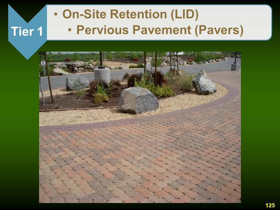 Tier 1 On-Site Retention (LID) Pervious Pavement (Pavers)