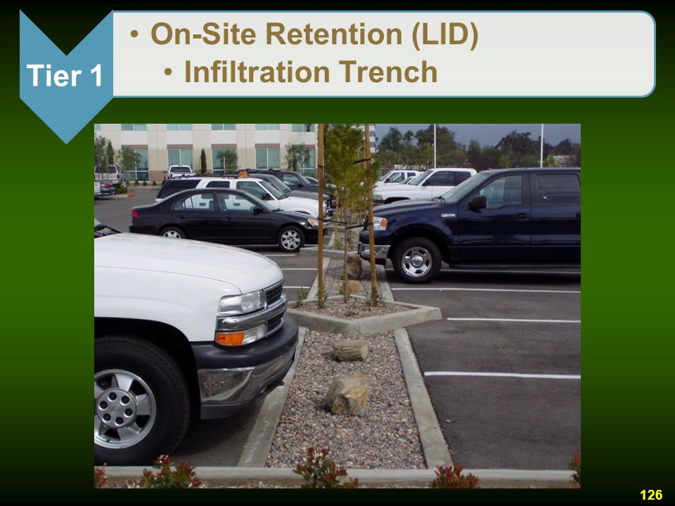 Tier 1 On-Site Retention (LID) Infiltration Trench
