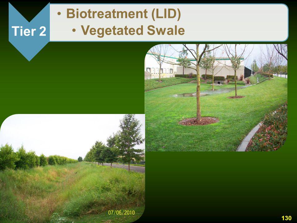 Tier 2 Biotreatment (LID) Vegetated Swale