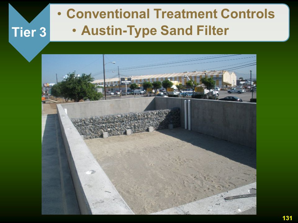Tier 3 Conventional Treatment Controls Austin-Type Sand Filter