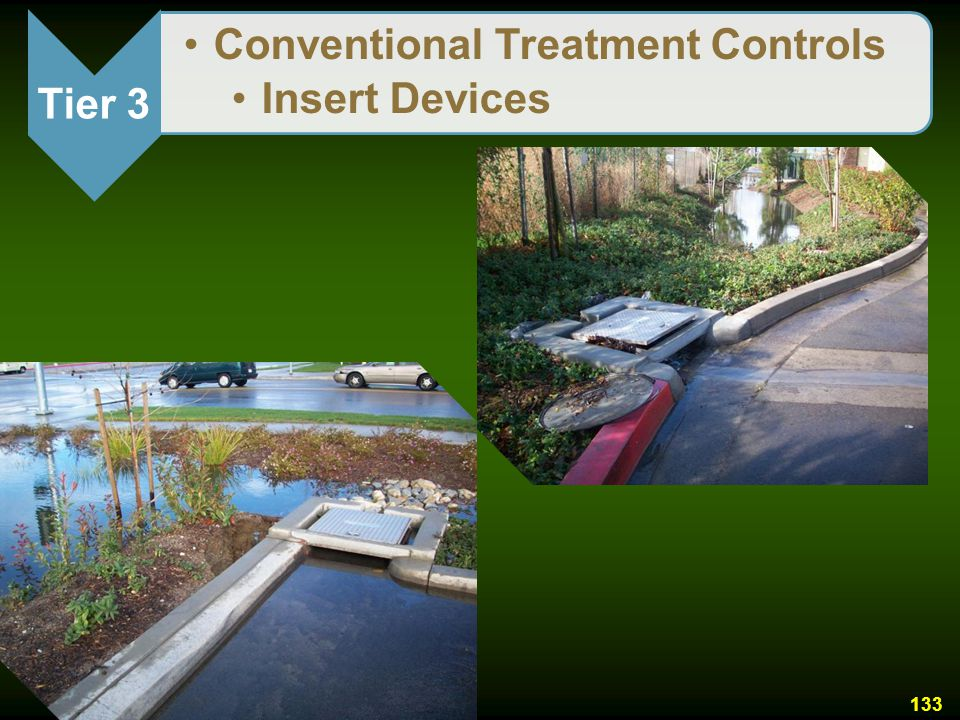 Tier 3 Conventional Treatment Controls Insert Devices