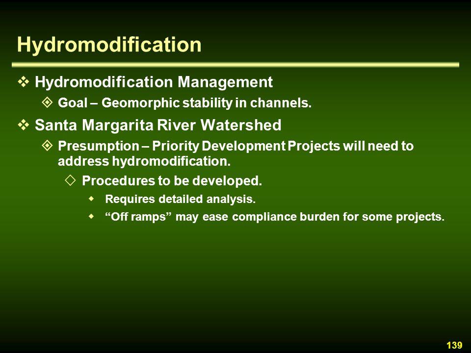 Hydromodification Hydromodification Management