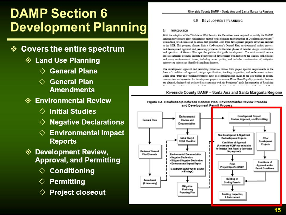 DAMP Section 6 Development Planning