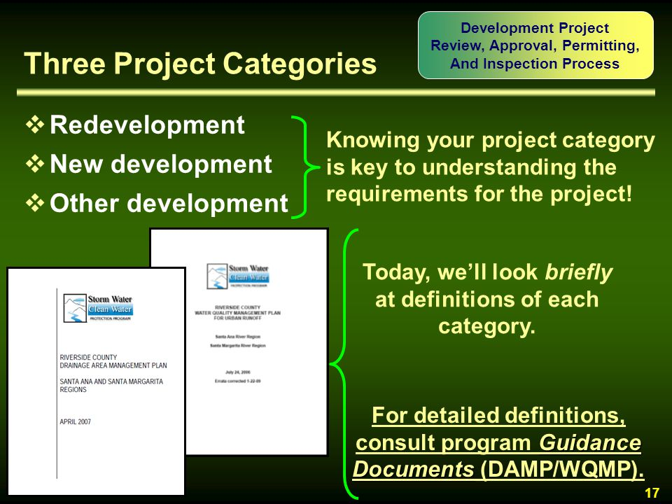 Three Project Categories
