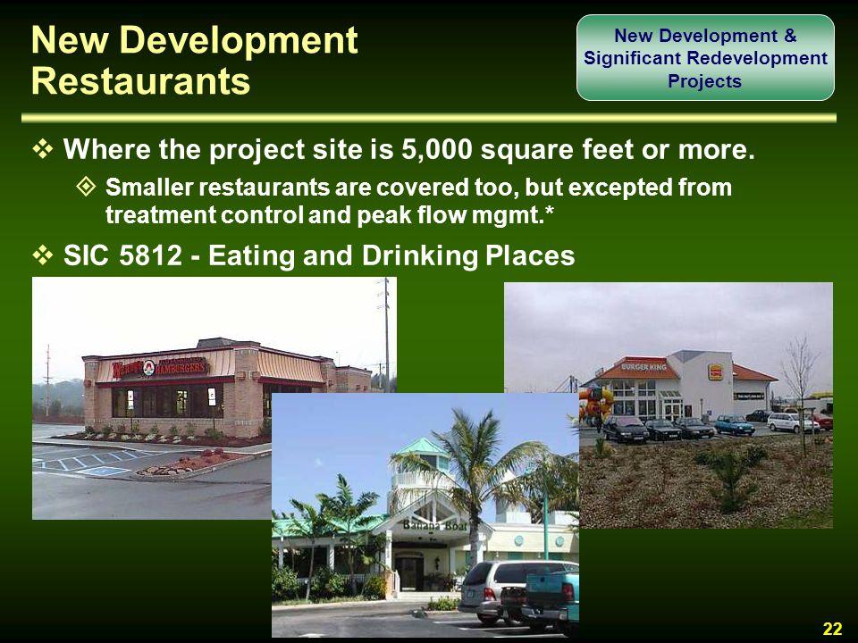 New Development Restaurants