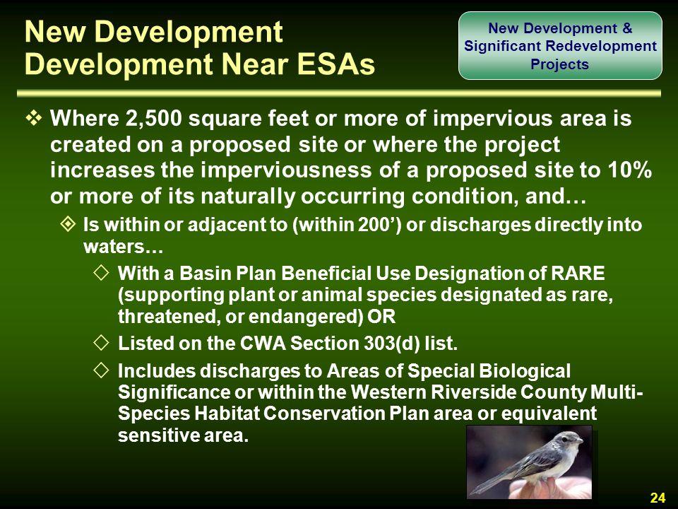 New Development Development Near ESAs