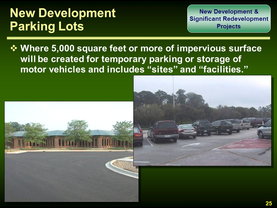 New Development Parking Lots