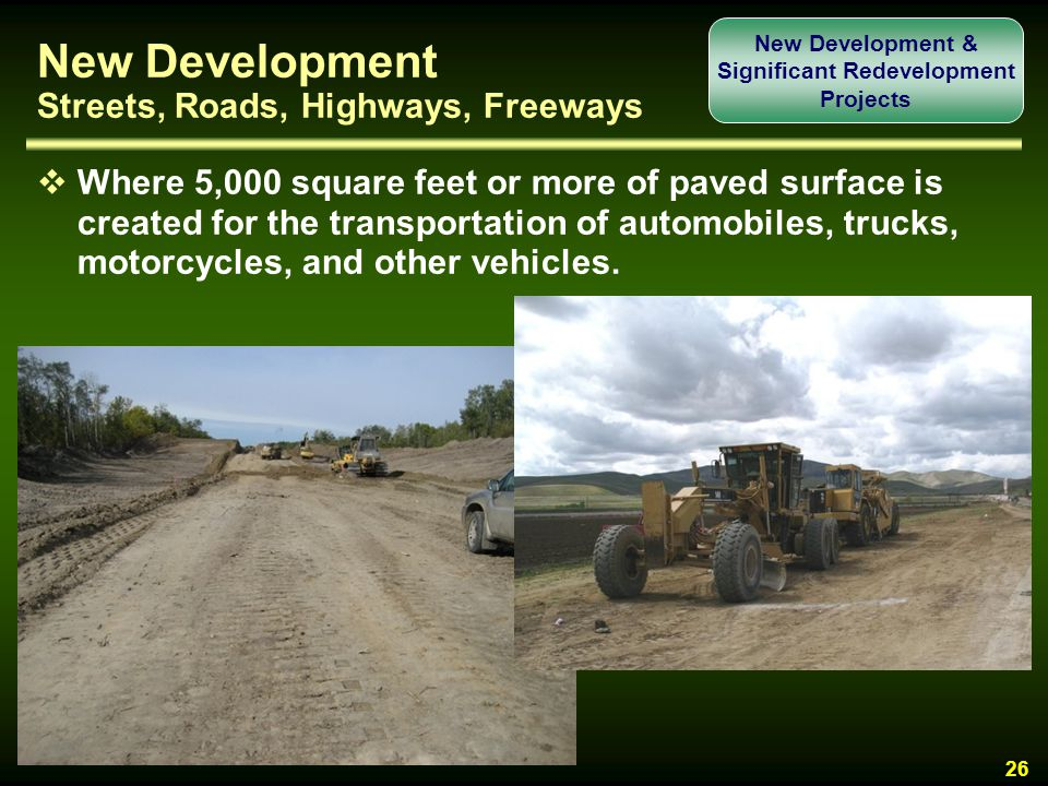 New Development Streets, Roads, Highways, Freeways