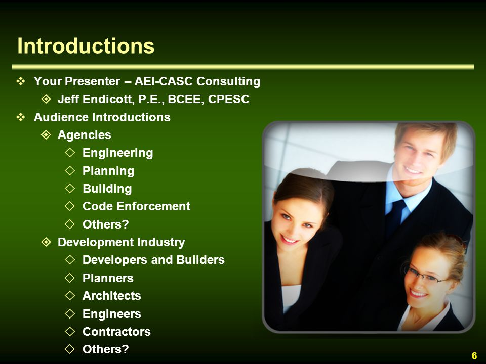 Introductions Your Presenter – AEI-CASC Consulting