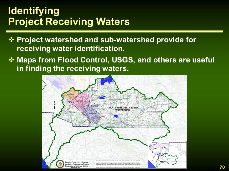 Identifying Project Receiving Waters