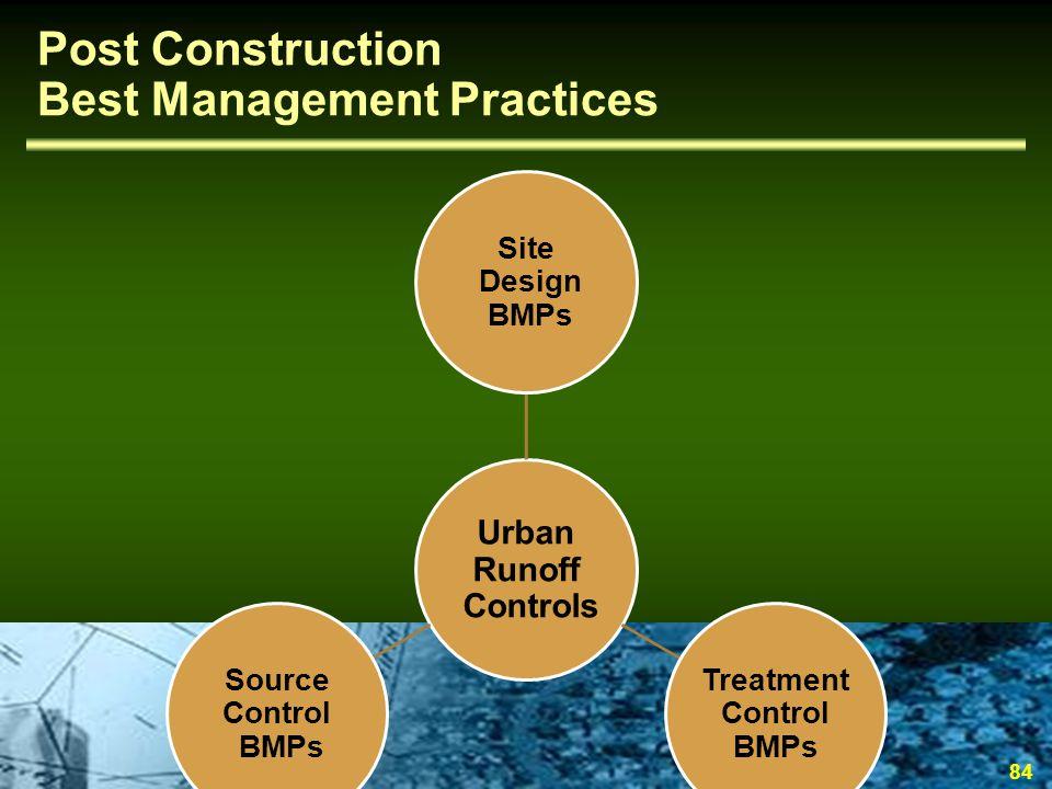 Post Construction Best Management Practices