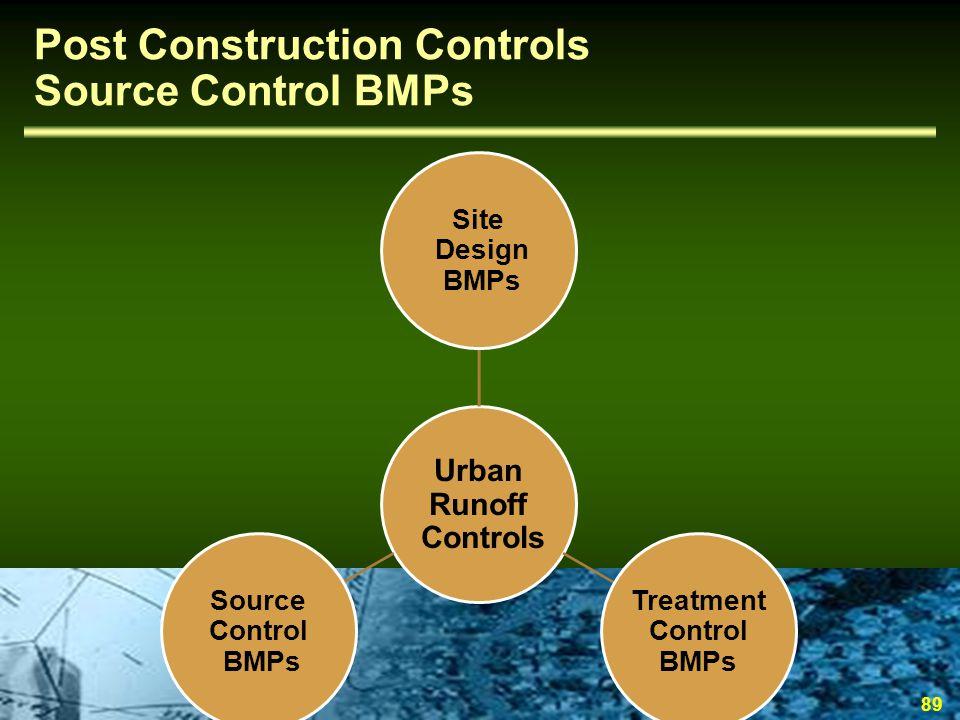 Post Construction Controls Source Control BMPs