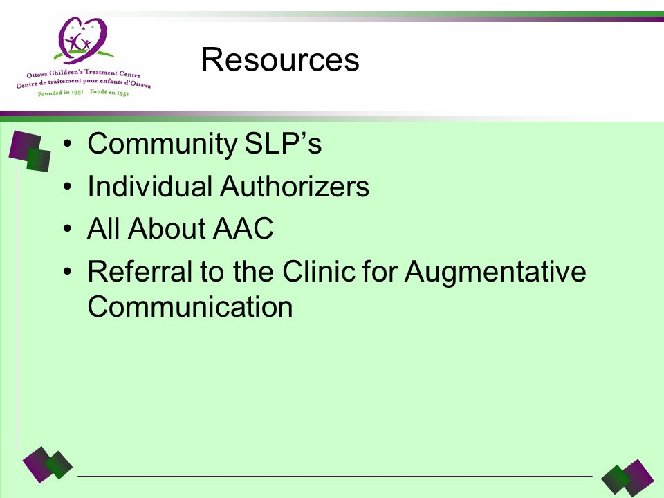 Resources Community SLP's Individual Authorizers All About AAC