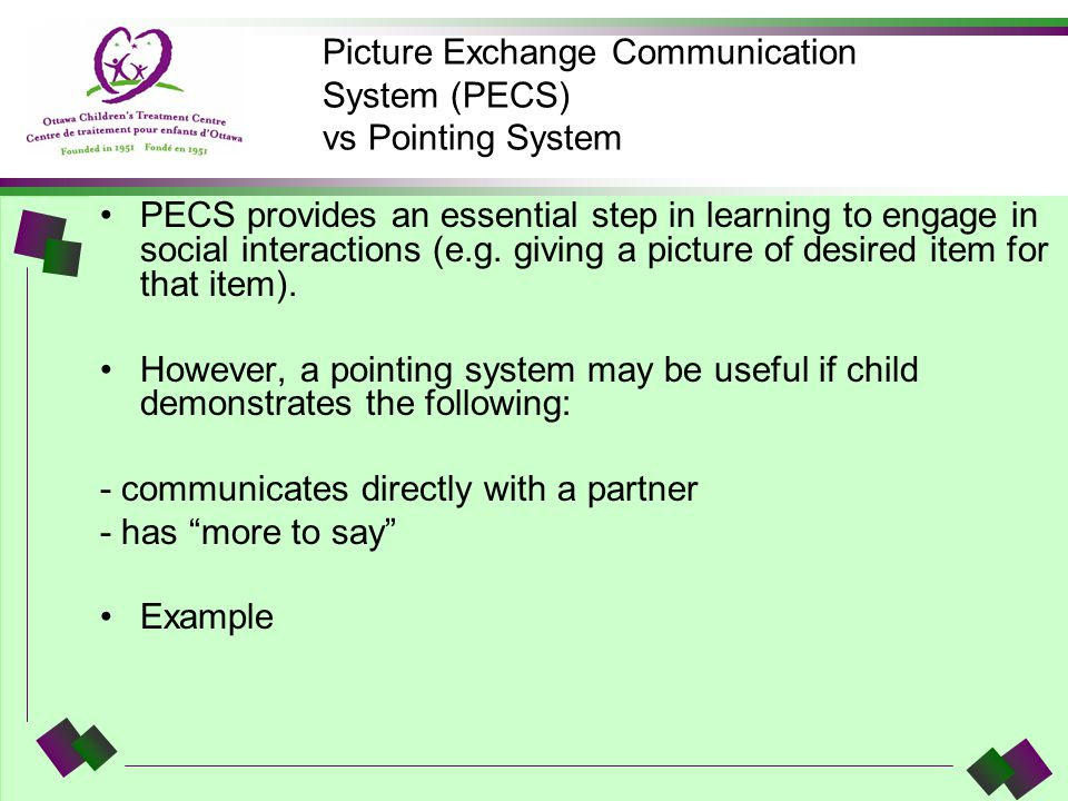 Picture Exchange Communication System (PECS) vs Pointing System