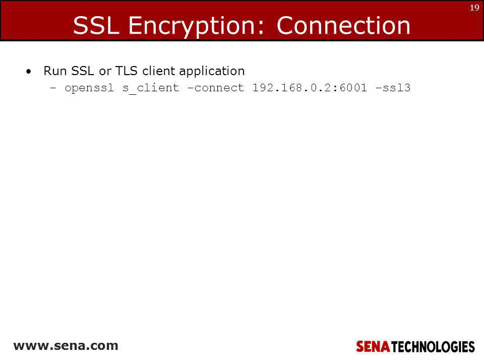 SSL Encryption: Connection
