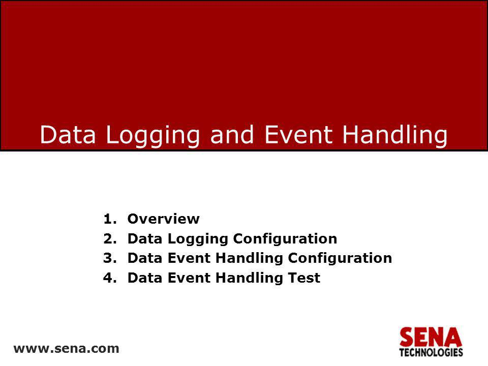 Data Logging and Event Handling