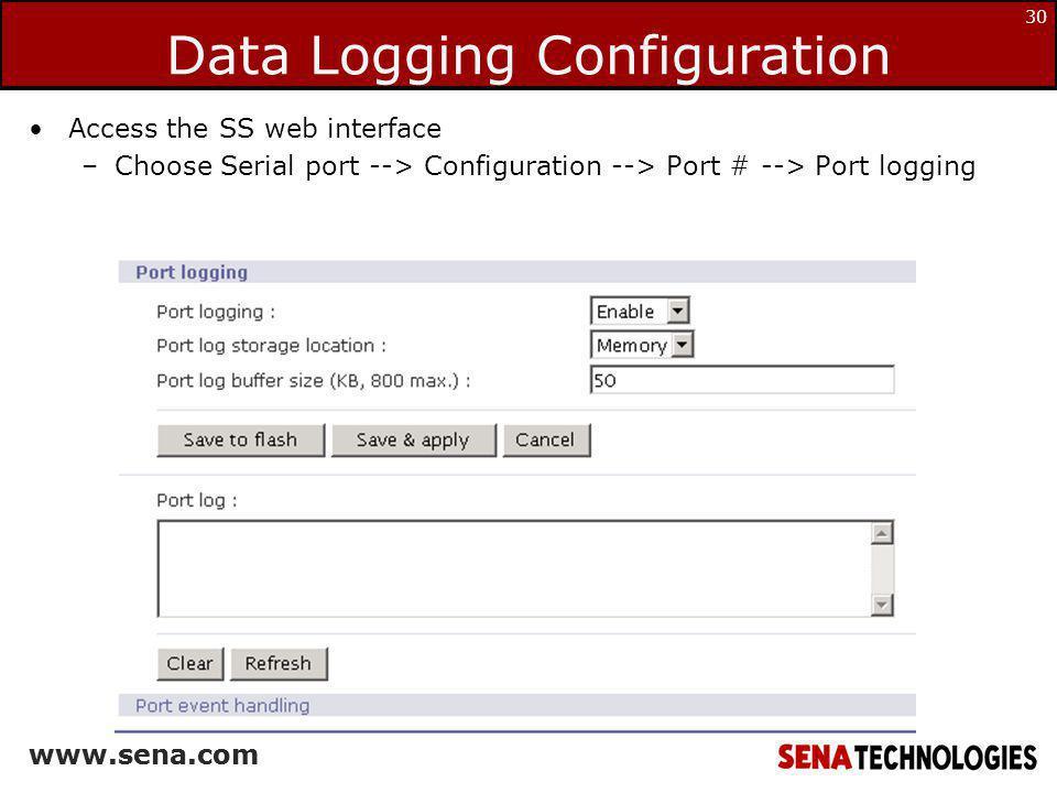 Data Logging Configuration