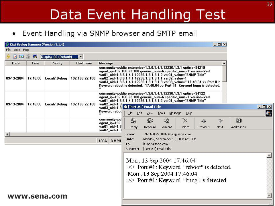 Data Event Handling Test