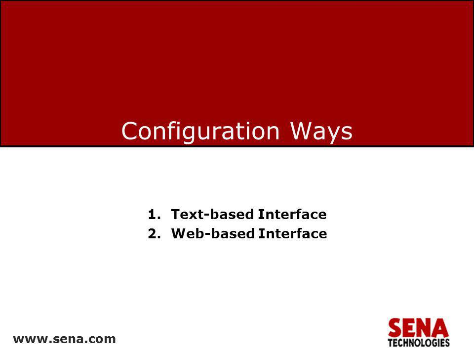 Text-based Interface Web-based Interface