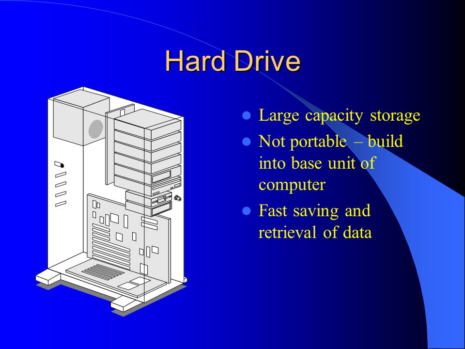 Hard Drive Large capacity storage