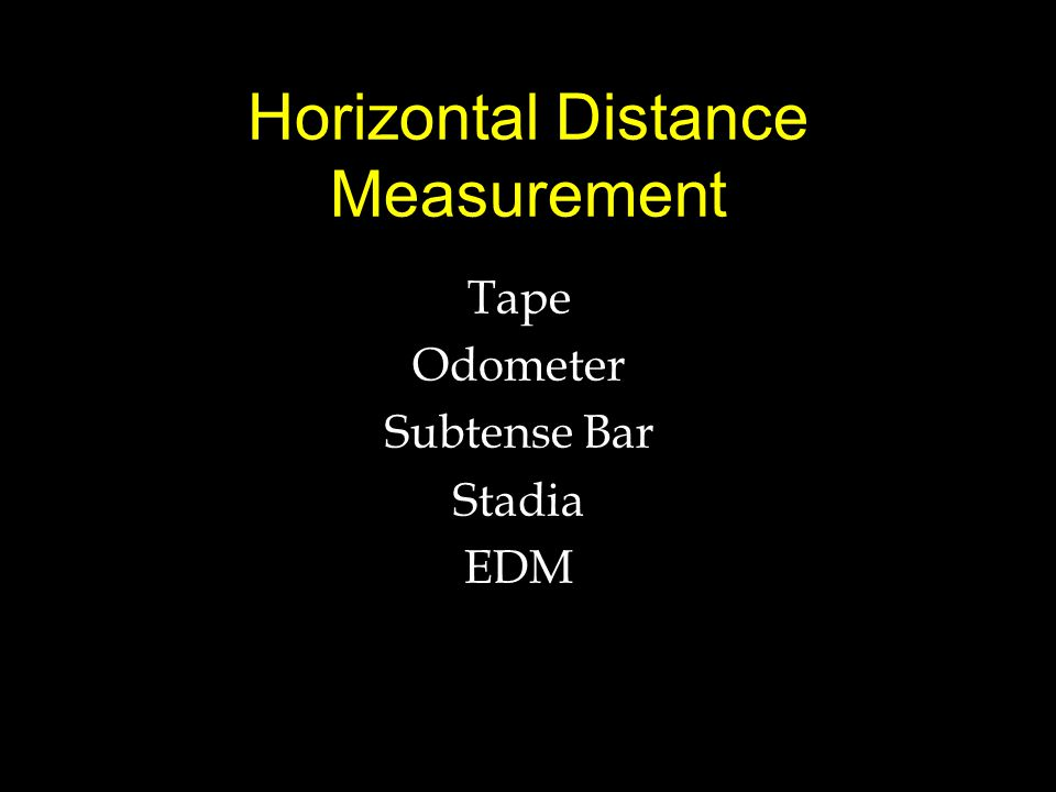 Horizontal Distance Measurement