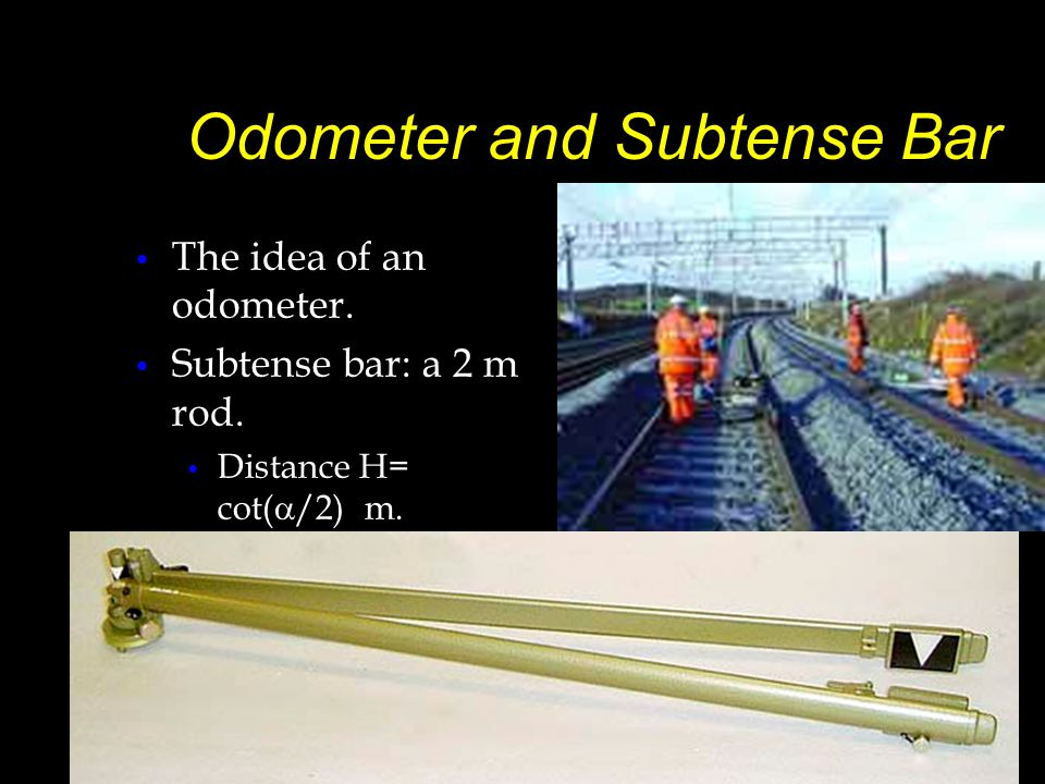 Odometer and Subtense Bar