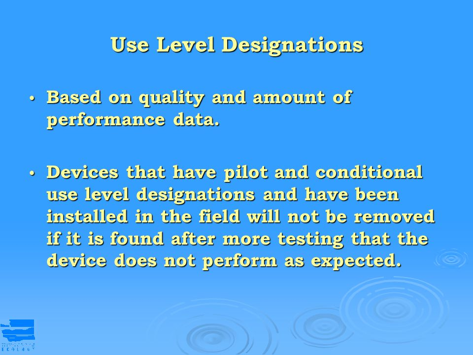 Use Level Designations