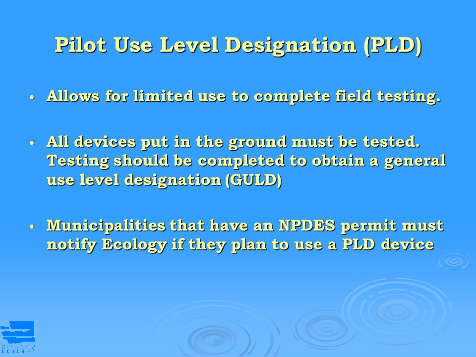 Pilot Use Level Designation (PLD)