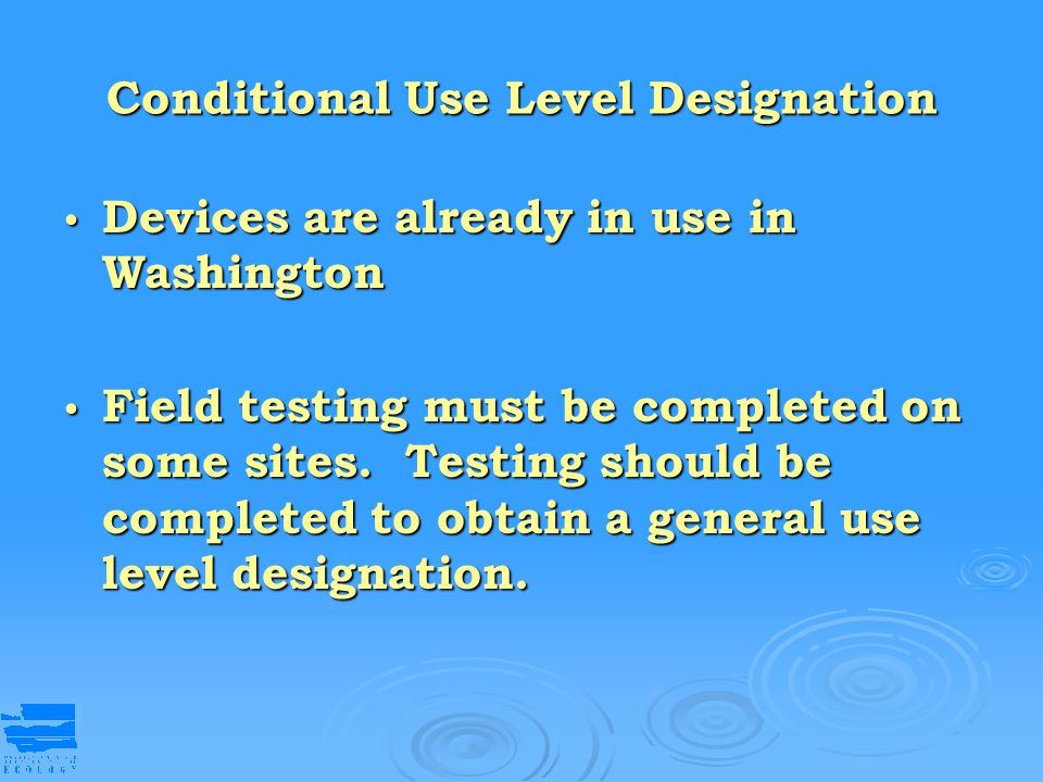 Conditional Use Level Designation