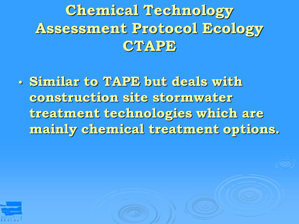 Chemical Technology Assessment Protocol Ecology CTAPE