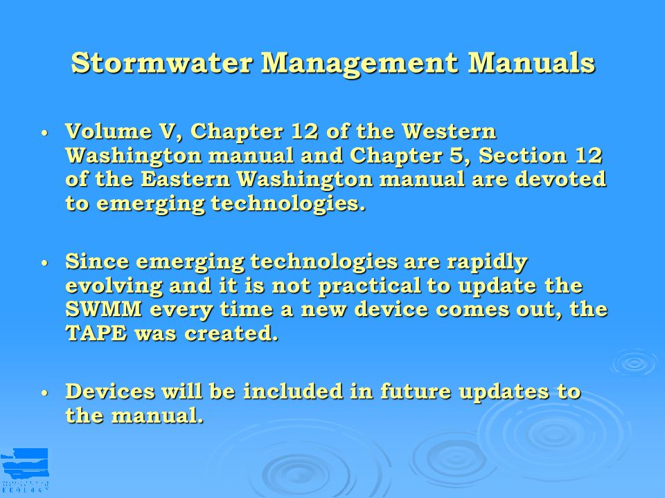 Stormwater Management Manuals